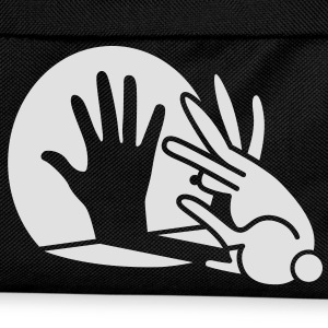 Black Rabbit Hand Shadows Glow in the dark T-Shirts - Kids' Backpack