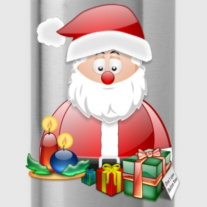 Father Christmas With Presents Candles Santa Christmas Scene - Water Bottle
