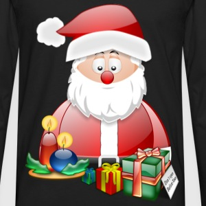 Father Christmas With Presents Candles Santa Christmas Scene - Men's Premium Longsleeve Shirt