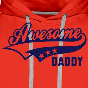 Awesome DADDY T-Shirt WR - Mannen Premium hoodie