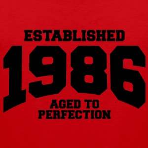 aged to perfection established 1986 (no) T-skjorter - Premium singlet for menn