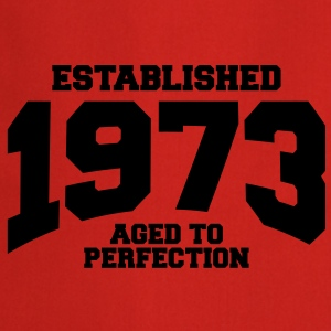 aged to perfection established 1973 (nl) T-shirts - Keukenschort
