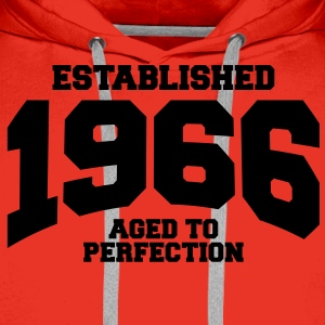 aged to perfection established 1966 (sv) T-shirts - Premiumluvtröja herr