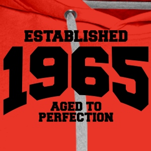 aged to perfection established 1965 (nl) T-shirts - Mannen Premium hoodie