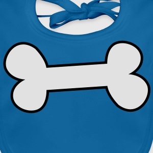 a solid 2 colour bone Shirts - Baby Organic Bib