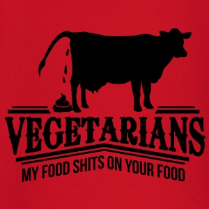 Vegetarians - my food shits on your food Schürzen - Baby Langarmshirt