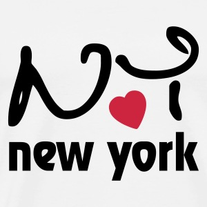 I Love New York Gensere - Premium T-skjorte for menn
