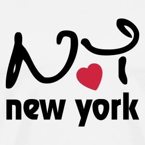 Love New York Long sleeve shirts - Men's Premium T-Shirt