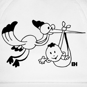 The stork brings the baby. Hoodies & Sweatshirts - Baseball Cap