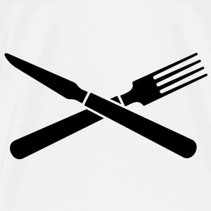 Messer und Gabel / knife and fork (crossed, 1c) Accessories - Men's Premium T-Shirt