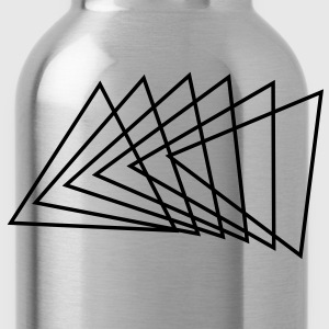 Triangle, modern design, black T-shirt, spiral - Water Bottle