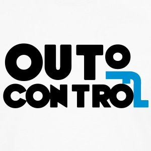 Out of Control Sort / Blå - Herre premium T-shirt med lange ærmer