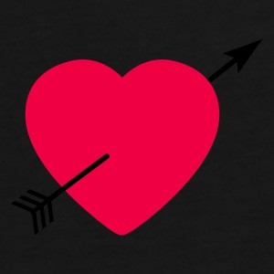 Heart round with arrow Sacs - T-shirt Premium Homme