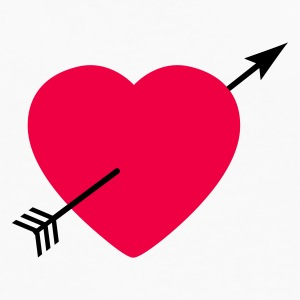 Heart round with arrow T-shirts - Långärmad premium-T-shirt herr