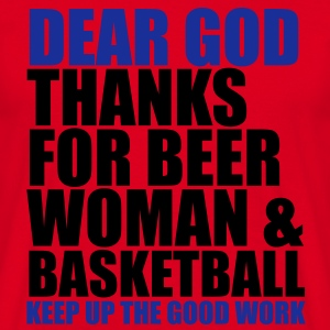 Dear God - Basketball Sweaters - Mannen T-shirt