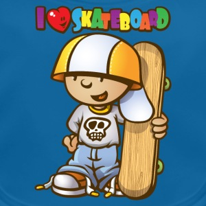 Kid love skateboard - Bavoir bio Bébé