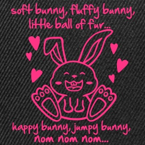 soft bunny, fluffy bunny, little ball of fur... T-shirts - Snapback Cap