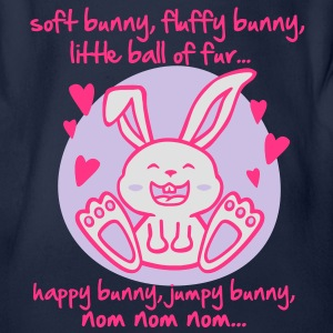 soft bunny, fluffy bunny, little ball of fur... Kids' Tops - Organic Short-sleeved Baby Bodysuit