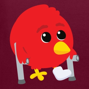 Hurted angry bird Bags  - Contrast Colour Hoodie