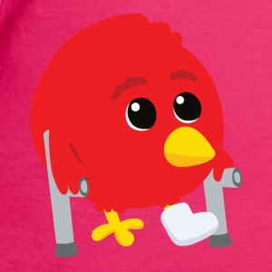 Hurted angry bird Bags  - Women's Organic T-shirt