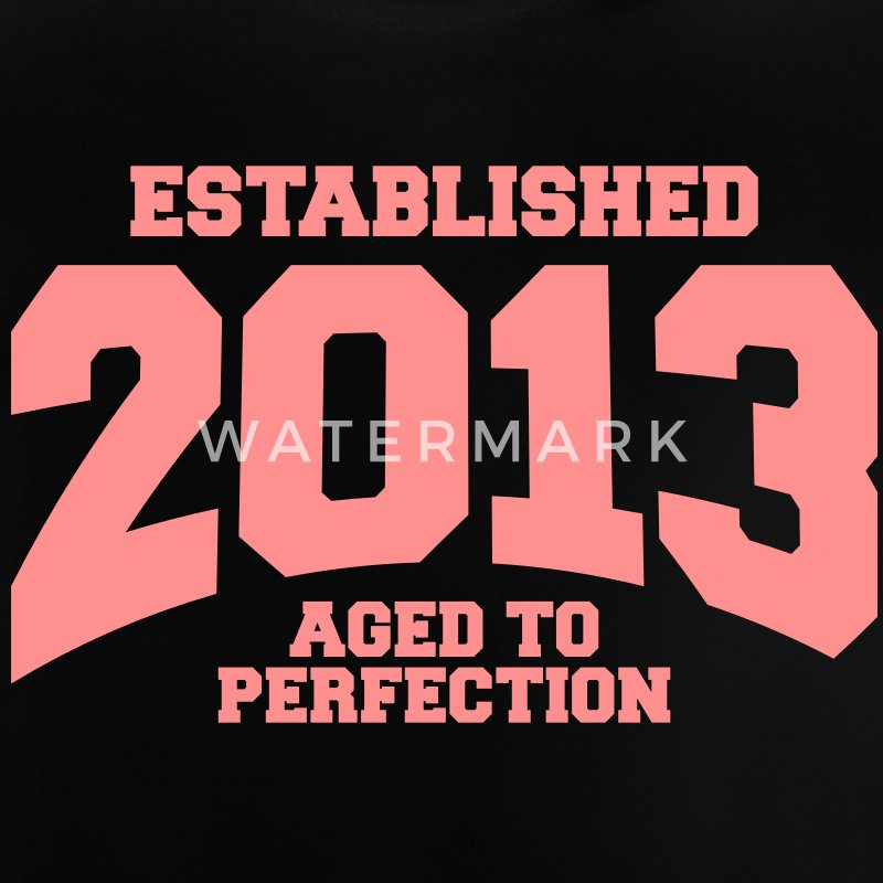 aged to perfection established 2013 (es) Camisetas Bebés - Camiseta bebé