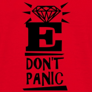 British diamond E - don't panic (1c) Bags  - Men's T-Shirt