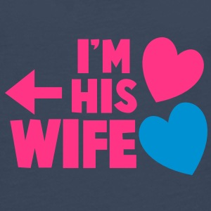 I'm his wife with arrow left and cute love hearts Caps & Hats - Men's Premium Longsleeve Shirt