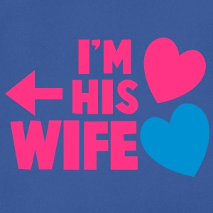 I'm his wife with arrow left and cute love hearts Caps & Hats - Men's Breathable T-Shirt