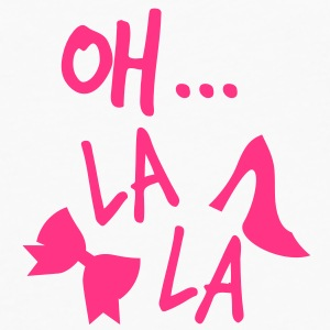 OH LA LA with shoes and a bow Caps & Hats - Men's Premium Longsleeve Shirt