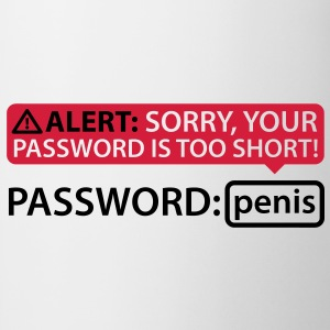 Alert Password Penis T-Shirts - Kop/krus