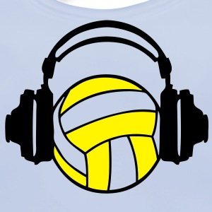casque headphones volleyball dj audio Tee shirts Enfants - Bavoir bio Bébé