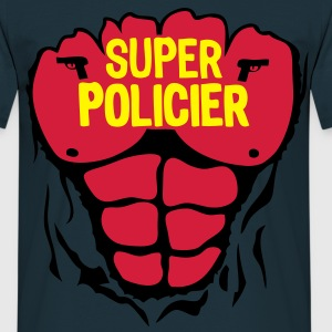 policier super corps muscle bodybuilding Sweat-shirts - T-shirt Homme