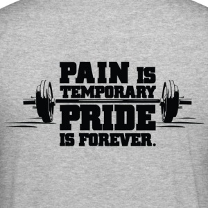 Pain is temporary | Mens Hoodie - Men's Slim Fit T-Shirt