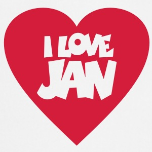 I love Jan T-shirts - Förkläde