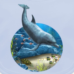 The world of the Dolphin - Baby Bio-Lätzchen