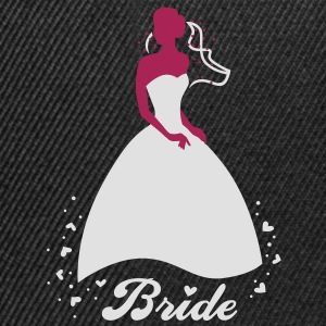 Bride - groom - wedding - marriage T-Shirts - Snapback Cap