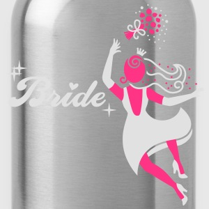 Bride - groom - wedding - marriage T-Shirts - Water Bottle