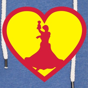 super flamenco love coeur heart Tee shirts Enfants - Sweat-shirt à capuche léger unisexe