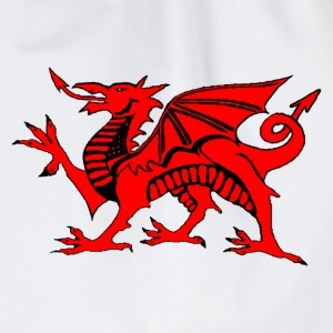 welsh red dragon uk gents boxing t-shirts - Drawstring Bag