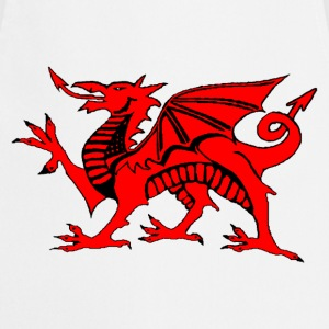 welsh red dragon uk gents boxing t-shirts - Cooking Apron