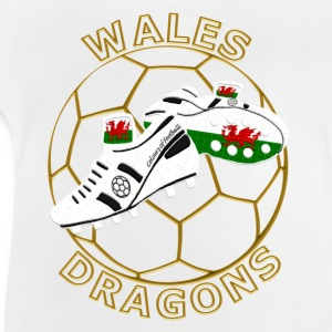 Wales red dragon football childrens t-Shirt - Baby T-Shirt