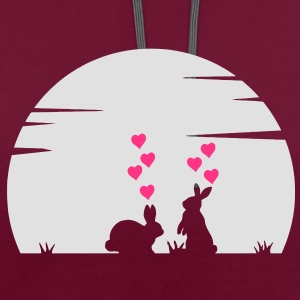 Lovely Bunny's Big Love and Moonshine Bags  - Contrast Colour Hoodie
