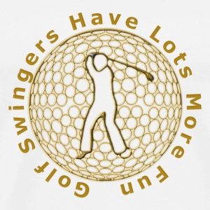 golf swingers_120 Mugs  - Men's Premium T-Shirt