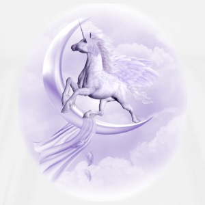 purple flying Pegasus - Männer Premium T-Shirt