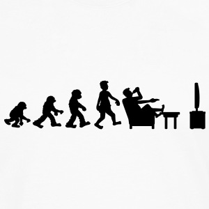 evolution_of_couch_potato T-shirts - Mannen Premium shirt met lange mouwen