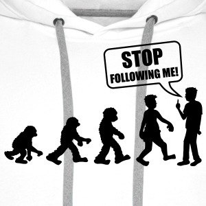 stop_following_me T-Shirts - Männer Premium Hoodie