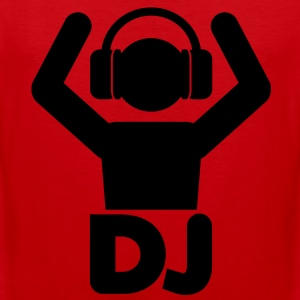 DJ Hands Up T-Shirts - Men's Premium Tank Top