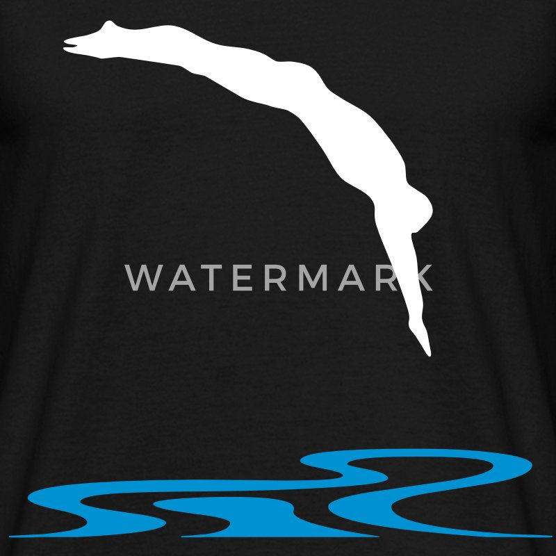 Swimmer, Swimming T-Shirts - Men's T-Shirt
