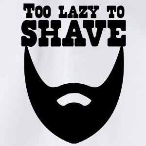 too lazy to shave full beard T-Shirts - Drawstring Bag