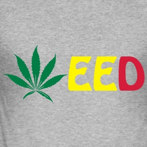 weed Sweatshirts - Herre Slim Fit T-Shirt